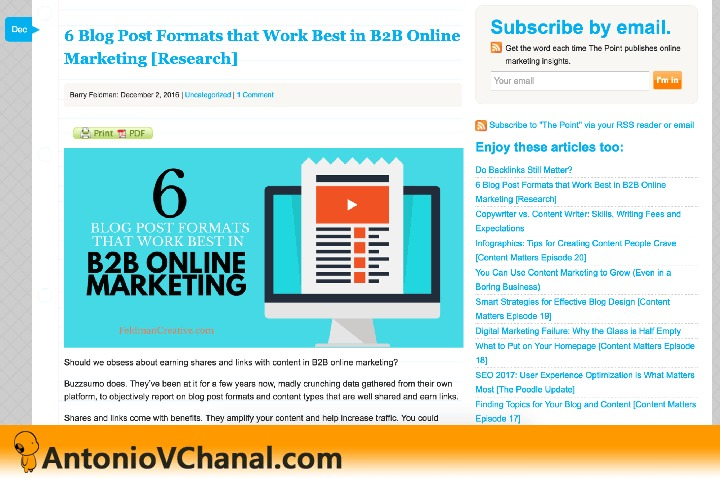 6 Blog Post Formats that Work Best in B28 Online SUbSCribe by email. Marketing [Research] rete -              Sarma  Enjoy these articles 100                                         Eamon rag