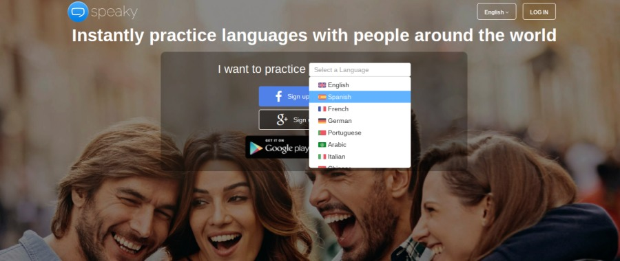 (JERRY =3ies Instantly practice languages with people around the world want 10 practice  [Es