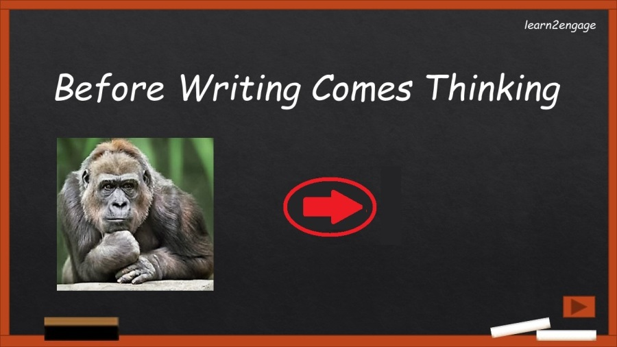 Before Writing Comes Thinkinglearn2engage  Before Writing Comes Thinking