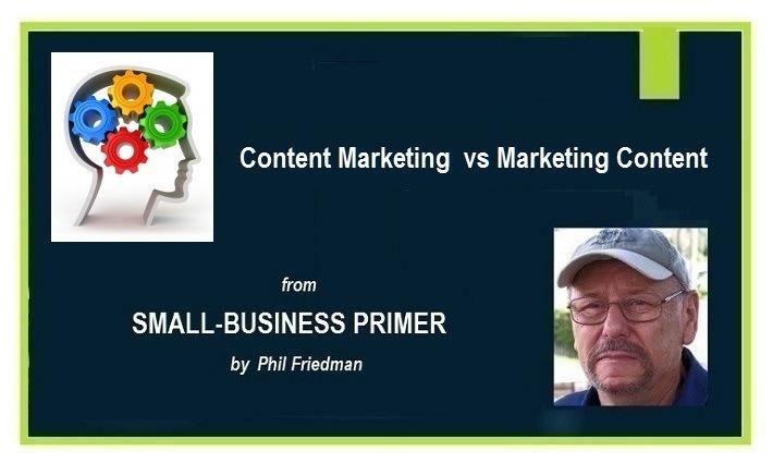 Content Marketing vs Marketing ContentContent Marketing vs Marketing Content  from  SMALL-BUSINESS PRIMER  DE