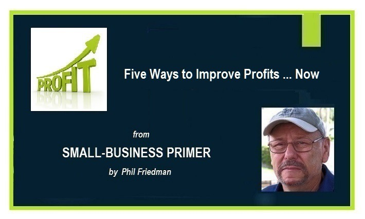 Five Ways to Improve Your Small-Business Profits ... NowSMALL-BUSINESS PRIMER  by Phil Friedman