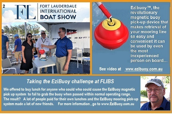 Taking the EziBuoy Challenge At the Fort Lauderdale International Boat Show 2017