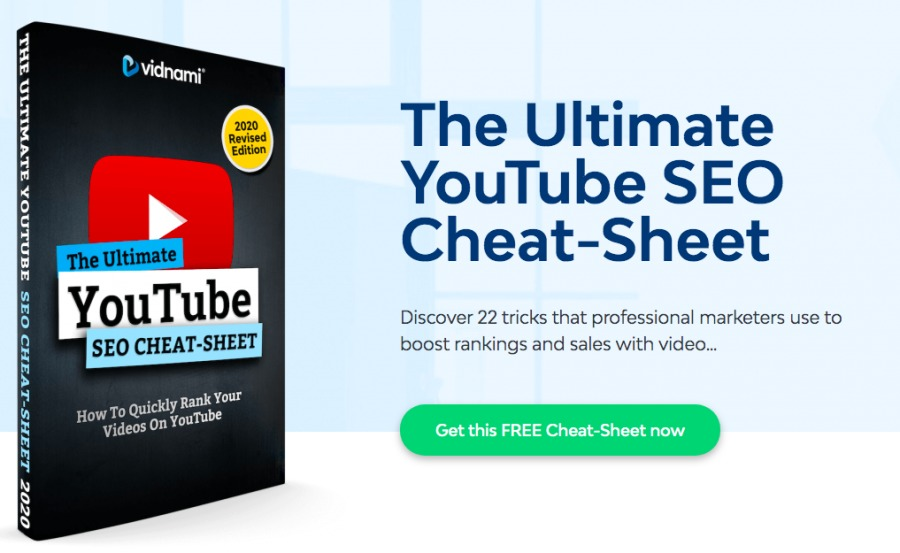 YouTube 9 SEO CHEAT-SHEET  Al ow To Quickly Rank ahr     The Ultimate YouTube SEO Cheat-Sheet  Discover 22 tricks that p        keters use to