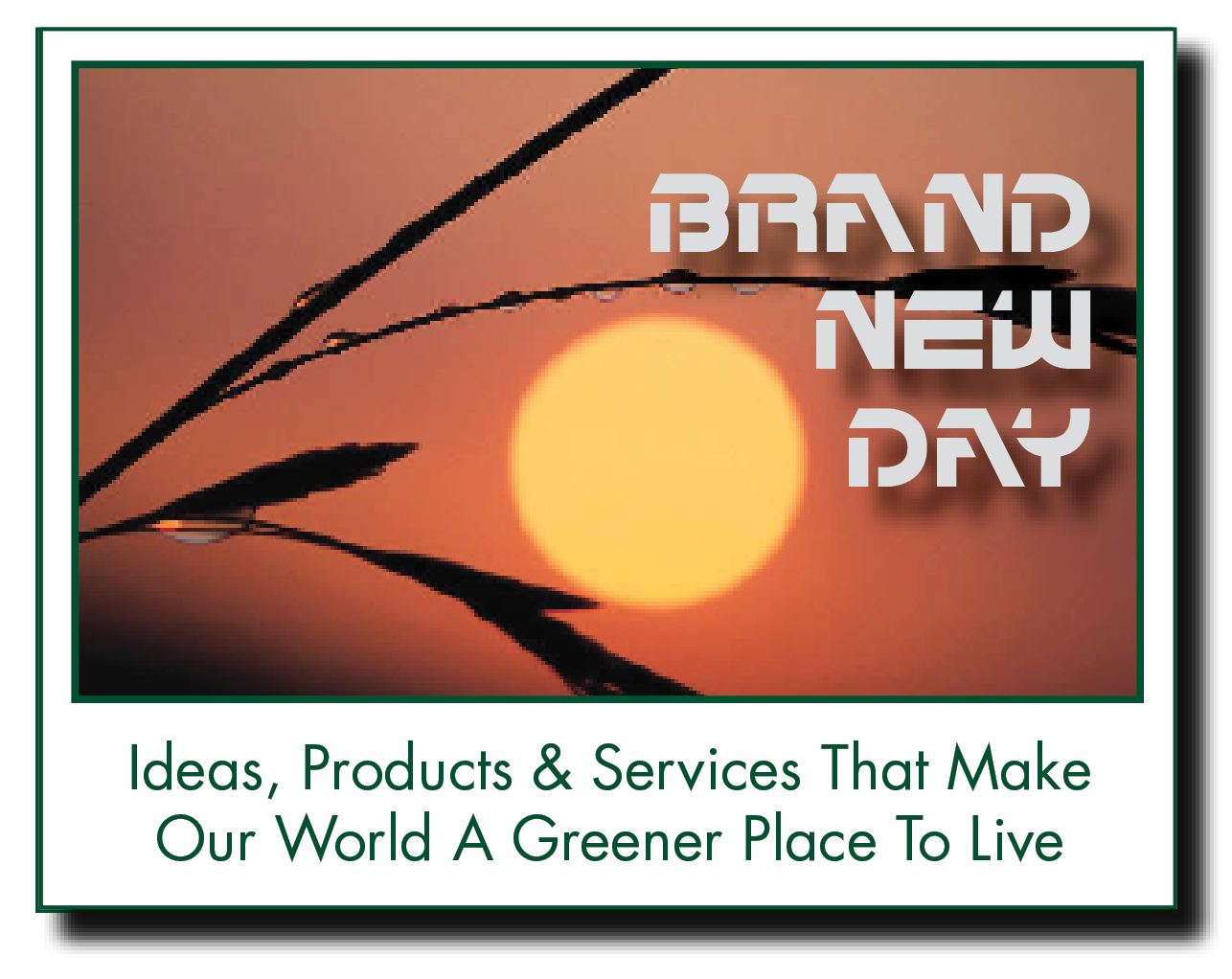 BRAND TTT ny  Ideas, Products & Services That Make Our World A Greener Place To Live
