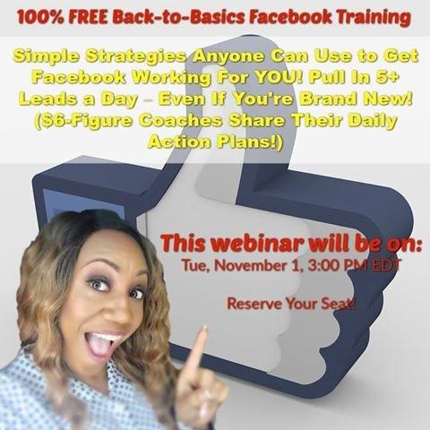 100% FREE Back-to-Basics Facebook Training  FYAnyone CG} ingiEor YOU 1p 1 OG Al hare LE)