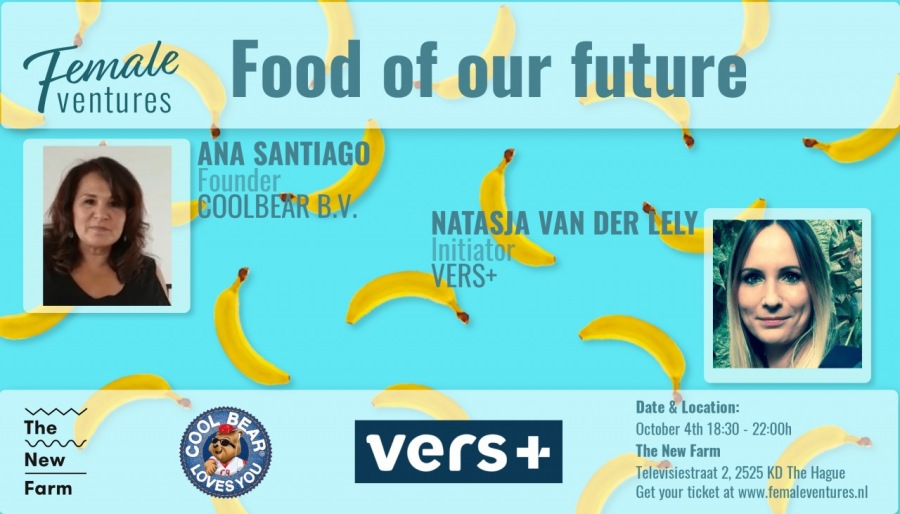 Fence Food of our future  ventures ANA SANTIAGO ' . )  COOLBERR BV. NATASIA VAN DER YELY <  Lor i VERS*  4  wr Ey