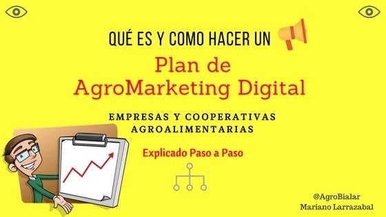 QUE ES Y COMO HACER UN J \ Plan de AgroMarketing Digital  EMPRESAS Y COOPERATIVAS AGROALIMENTARIAS      {  Explicado Paso a Paso  oa Marans Larraatal