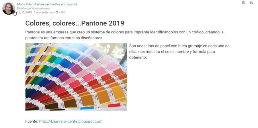 Colores, colores...Pantone 2019  Pantone es una empresa que cred un TSTAM de colores PAD MMENEATa IGNTCANIOI0E Con Un COBO, Craando la