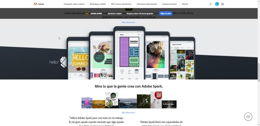 Mira 10 que Ls gente crea con Adobe Spark  - FY BE °c