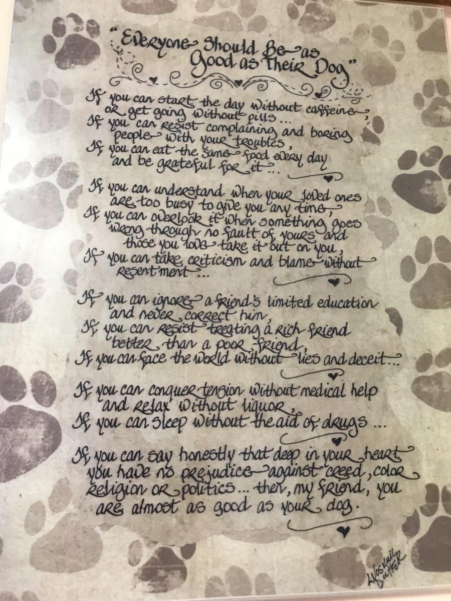 We Love Our Dogs by Bill Stankiewicz