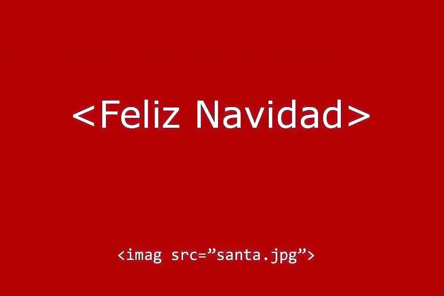 """<Feliz Navidad>  <imag src=""""santa.jpg"""">"""