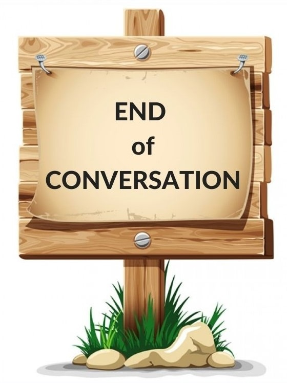 When to End Replying to Someone's Comments?