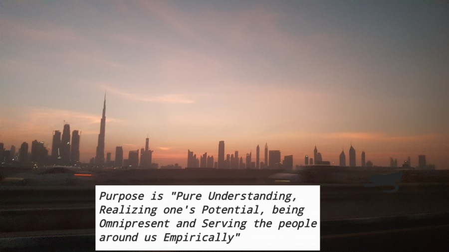 """Drowning in my pursuit of adding value to purpose!Purpose is """"Pure Understanding, Realizing one's Potential, being Omnipresent and Serving the people around us Empirically"""""""