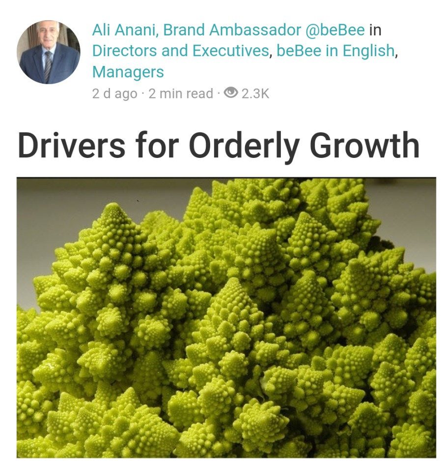 Ouch ! Linkedin I don't like Doesn't mean I hate you. Ali Anani, Brand Ambassador @beBee in 1 Directors and Executives, beBee in English, Managers 2d ago 2 min read 2.3K  Drivers for Orderly Growth