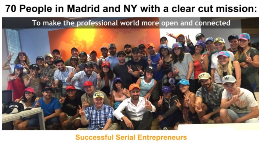 To New beBees Visiting beBee land70 People in Madrid and NY with a clear cut mission:  To make the professional world more open and connected