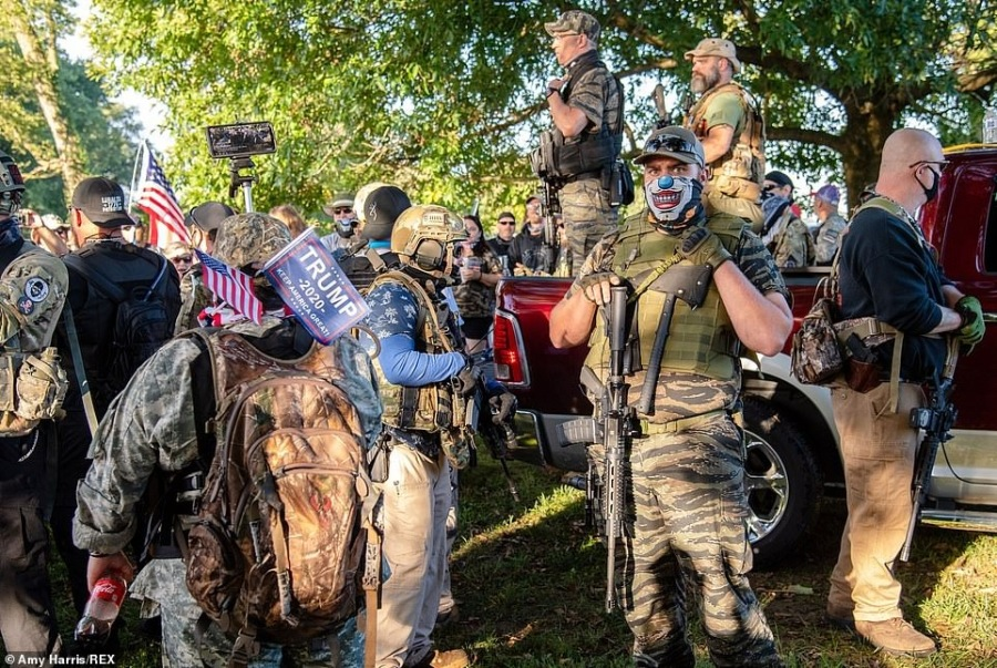 DISAPPOINTED TRUMP MILITIAMEN REFUSE TO ACCEPT ELECTION RESULTS