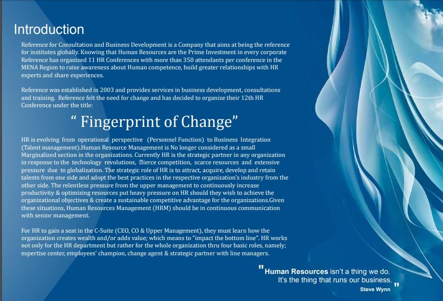 Fingerprint of Change