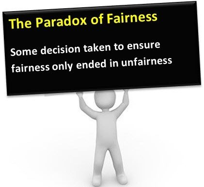 The Paradox of [ILO       A eH CUR ELL ensure fairness only ended TTLLE GEE