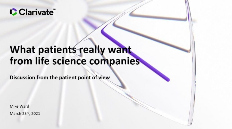What Patients Really Want from Life Science Companies