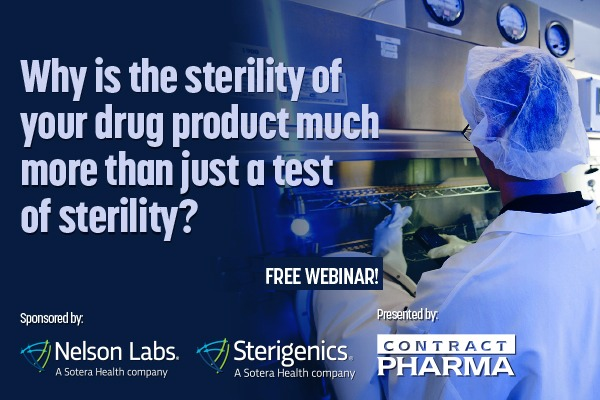 """Why is the sterility of your drug product much more than just a test of sterility?- NO Why is the sterility of CLE TTT TS UCIT ES LIES CTV 1!                  9  »  FREE WEBINAR! Eat """"7/Nelson Labs. / Sterigenics"""