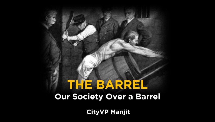 (BT bf fed  H T LZ  Our Society Over a Barrel       City VP Manjit