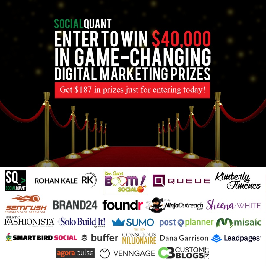 Sweepstakes with 40K in Digital Marketing Tools as Prizes