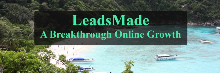 = LeadsMade ——  ' A Breakthrough Online Growth