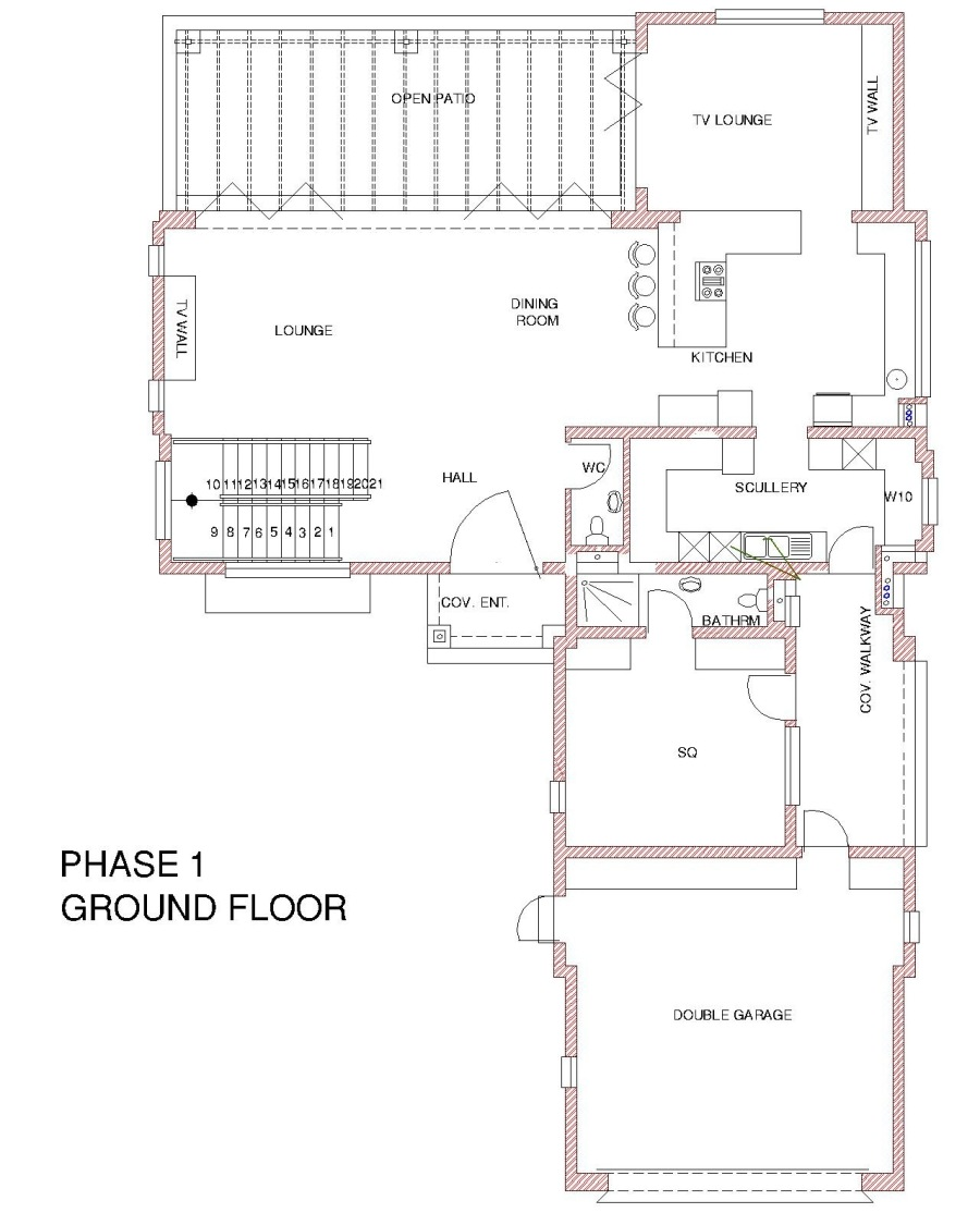 Lies o open on nie  = -  BEsOTMS  sare  sd          PHASE 1 FIRST FLOOR