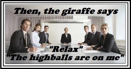 Then, the giraffe says