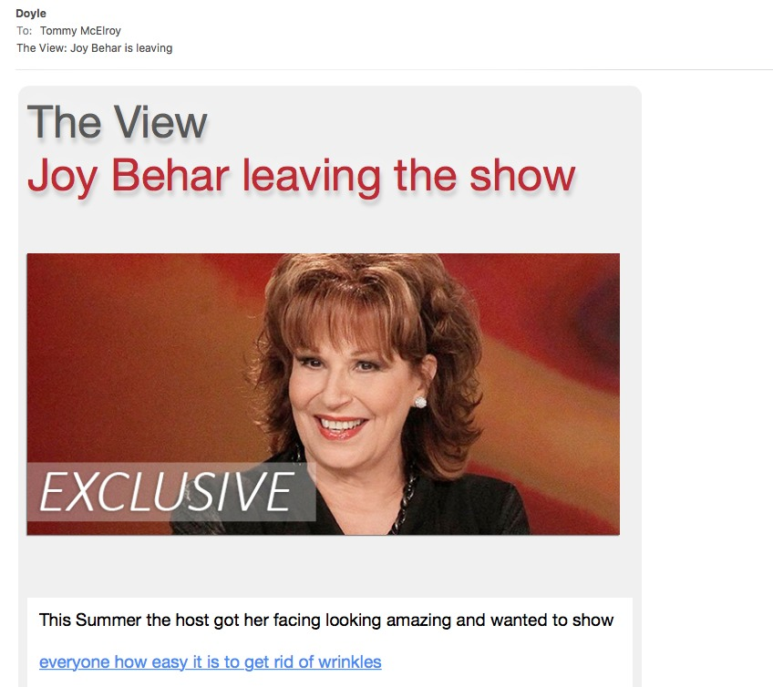 The View Joy Behar leaving the show     This Summer the host got her facing looking amazing and wanted to show  everyone how easy 1 is to get rid of wrinkles