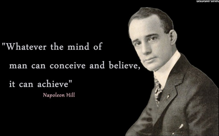 """""""Whatever the mind of        man can conceive and believe,  HET ETE HA PETRIE Hl"""