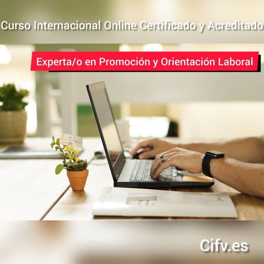 Curso Internacional Online Certificado y Acreditado de Experto/a en Promoción y Orientación LaboralJ nn nal ONlIMEIGETHCAtU ON ACIEa Tau 0  Experta/o en Promocion y Orientacion Laboral