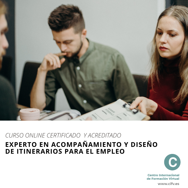 curso itinerarios empleoEXPERTO EN ACOMPANAMIENTO Y DISENO DE ITINERARIOS PARA EL EMPLEO  ©
