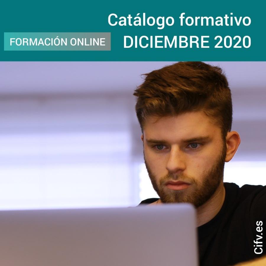 Formación Online Certificada, Homologada y/o Acreditada   DICIEMBRE 2020Catalogo formativo FORMACIONONLINE DICIEMBRE 2020