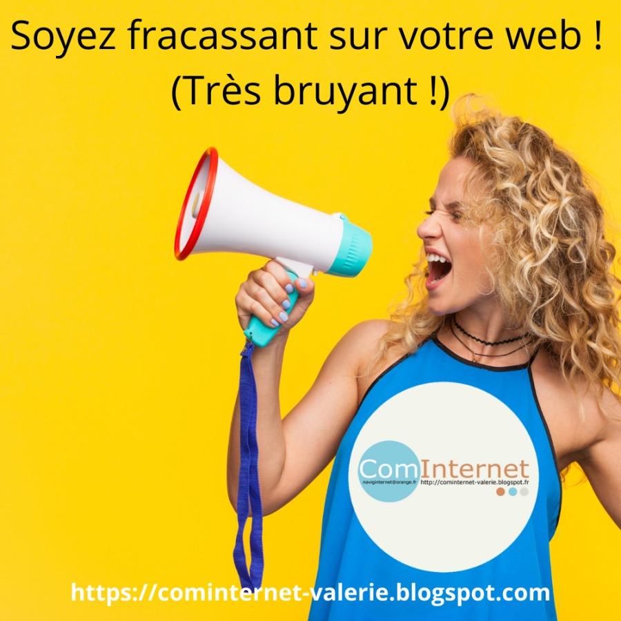 Formation en ligne Reseaux Sociaux Blogging COMINTERNET Valérie VANNES MORBIHAN BRETAGNE et aussi PARIS par SKYPE...Soyez fracassant sur votre web ! (Très bruyant !)     alerie.blogspot.com