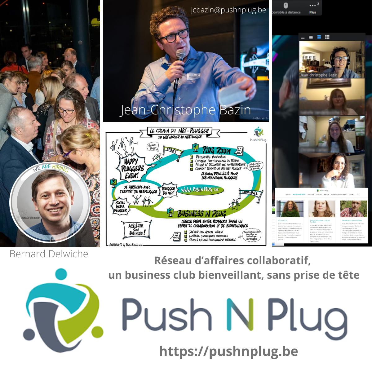 Réseau d'affaires collaboratif, un business club bienveillant, sans prise de tête  Push N Plug  https://pushnplug.be