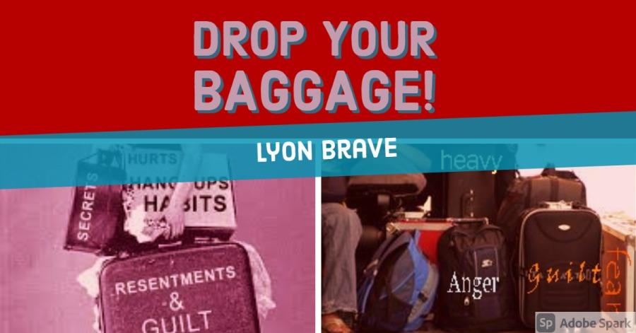 "DROP YOUR BAGGAGE!  2. ""ye—  — 38 HURTS SIR HANC ups) . Hf SITS)"