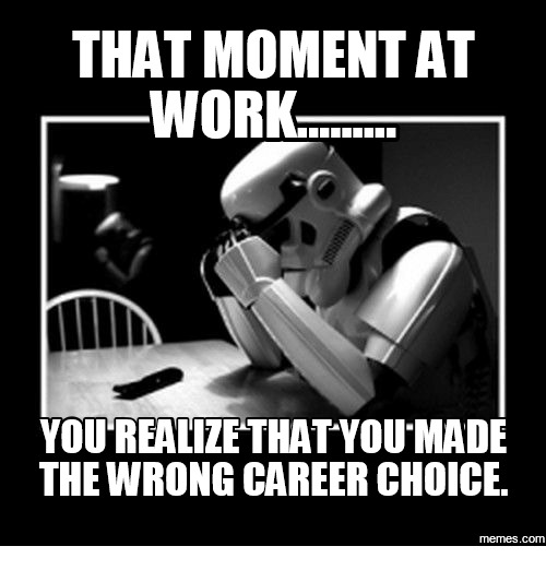 The Power of Choice: Win or Lose It's Up to You!THAT A [1] LC      YOU'REALIZE THAT YOU MADE THEWRONG CAREER CHOICE.