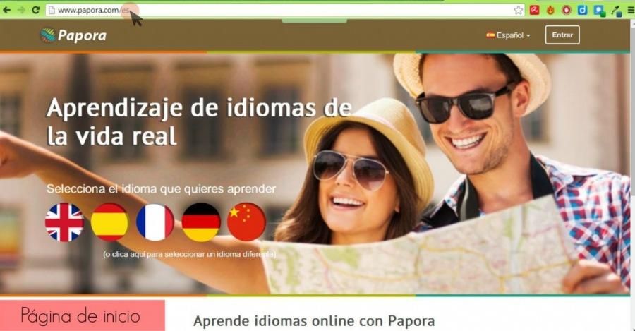 Aprendizaje de idioma la vida real     Pagina de inicio Aprende idiomas online con Papora