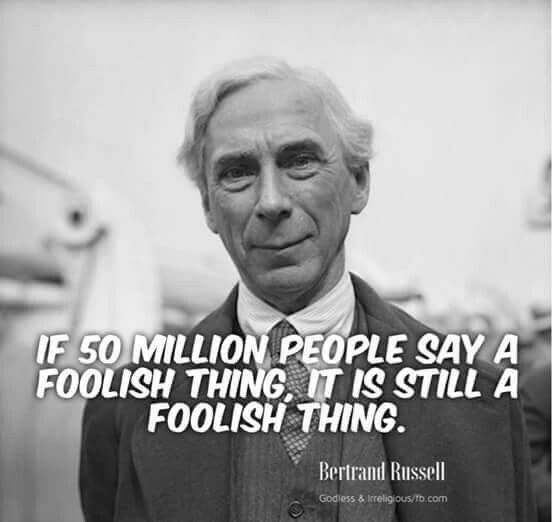 ONLY SPEAK OF FAITH LL: (NBII) SUBSTITUTE EMOTION FOR EVIDE BERTRAND RUSSELL