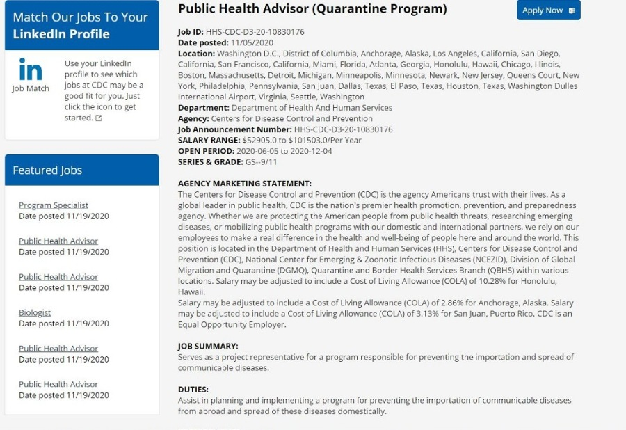Quarantine Programs in The USA—Here comes your nineteenth Nervous Breakdown…
