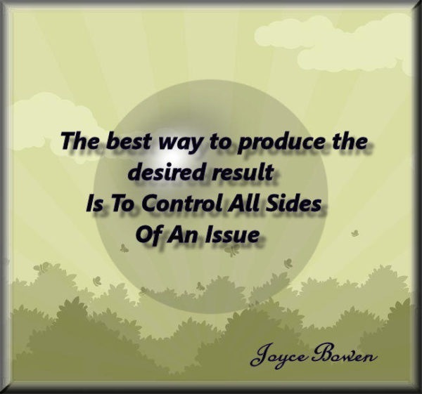 The Best Way to Produce the Desired Result…
