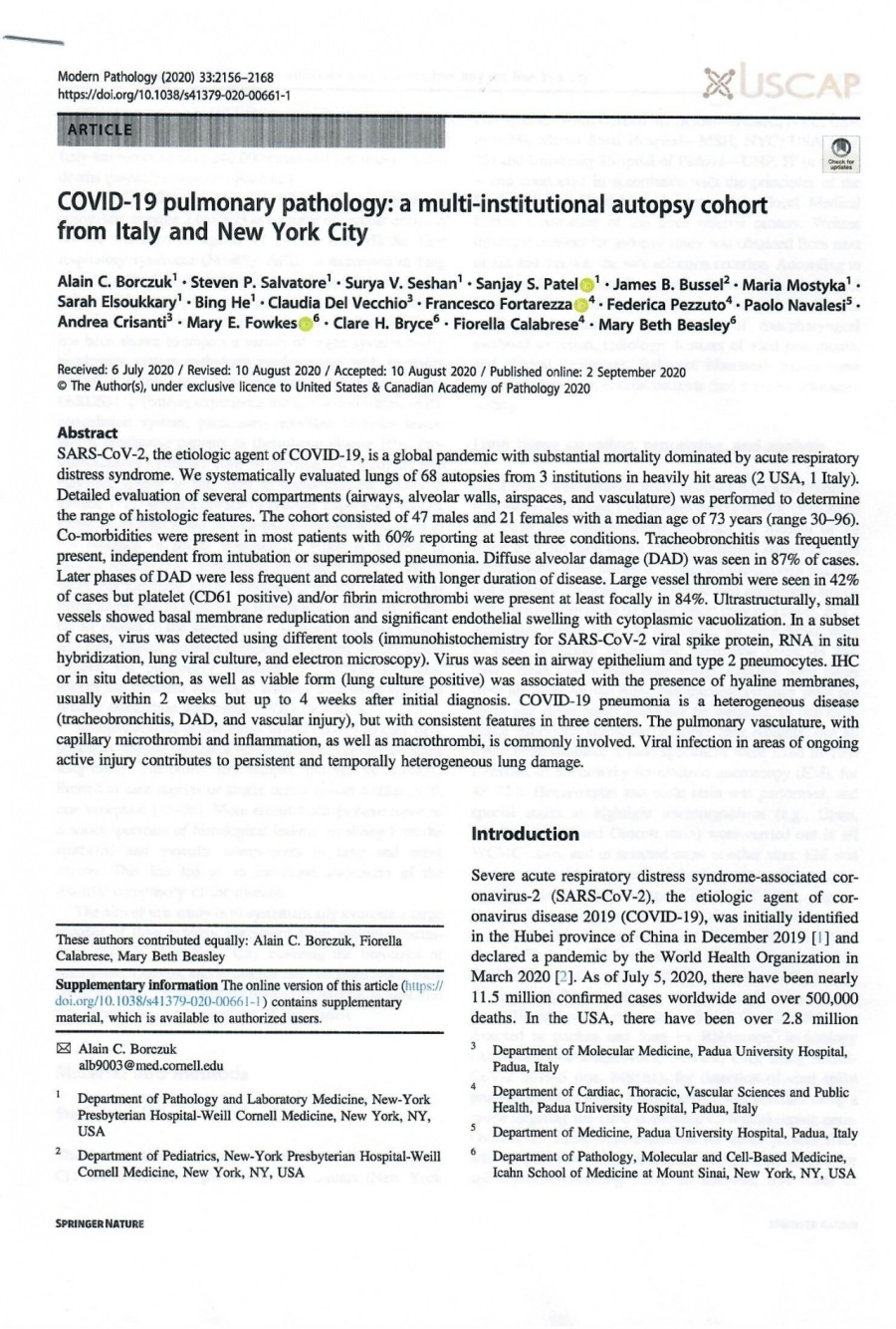 """—_—  Moder Patrology (2020) 332156-2168 hatps./dolorg/H0.103/1379-020-00661 