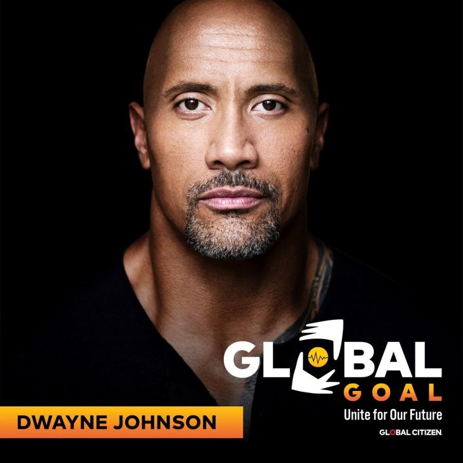 Yi  GOAL  DWAYNE JOHNSON Unite for Our Future