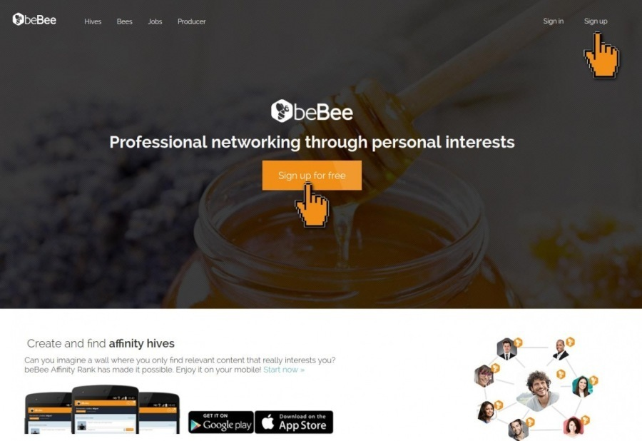 ObeBee  Professional networking through personal interests  affinity hives