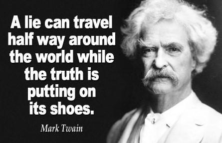 A lie can travel  LELAVETET  the world while LoTR 0TH ry LR  Pg eT