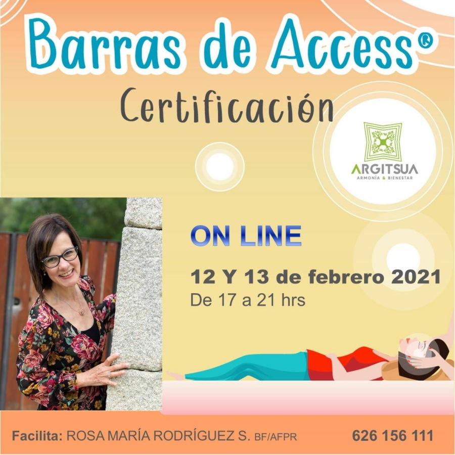 Certificación de Barras de AccessBarras de Access® Certificacion  RGITSUA  ON LINE  12 Y 13 de febrero 2021 De 17 a 21 hrs     Facilita: ROSA MARIA RODRIGUEZ S. sriAFPR 626 156 111