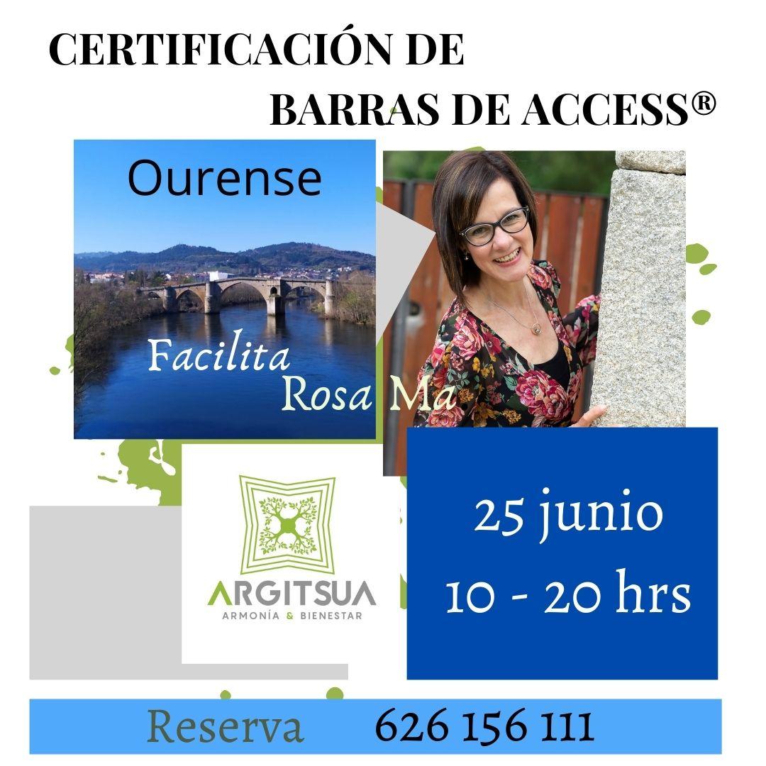 CERTIFICACION DE BARRAS DE ACCESS®         5 a h 2 1 «a . Fatlig  Rosa Ye  jo) Isl 25 junio NINES 10 - 20 hrs