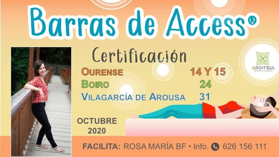 CERTIFICACIÓN INTERNACIONAL DE BARRAS DE ACCESS®Barras de Access®  Certificacién OURENSE 14Y 15 Boro 24  VILAGARCIA DE AROUSA 31  -  —-  OCTUBRE 2020  ~~ FACILITA: ROSA MARIA BF - Info. ® 626 156 111