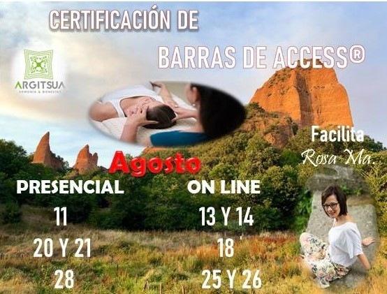 Certificaciónes Barras de Access mes de agosto...